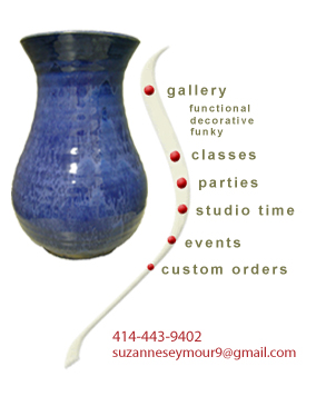 Gallery, Classes, Parties, Studio Time, Events, Custom Orders